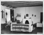 "Dorothy McKibbin's living room, from ""The Adobe House that Built the Atomic Bomb""..."