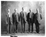 """The Big Five"" group portrait, H.S. Kaune second from left and Manuel Delgado on right,..."