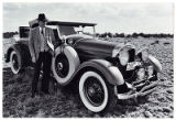 "Walter Kahn with his 1928 Lincoln roadster ""George"", Santa Fe, New Mexico"