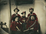 Group of five men from the Santa Fe Fire Company, Santa Fe, New Mexico