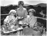 Ladies at the annual Saint Francis Altar Society tea at the Governor's Mansion, Santa Fe, New...