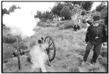 Firing cannon during reenactment of Battle of Glorieta, New Mexico