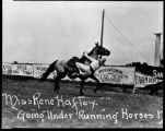 Miss Rene Haftey Going Under Running Horses