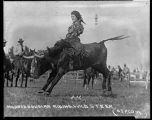 Mildred Douglas Riding Wild Steer