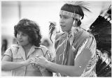 Rose Marie Reynolds and Mexican Springs dancer Dean Hardy at a pow wow, Santa Fe, New Mexico