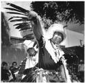Eagle Dancers performing at Indian Market, Santa Fe, New Mexico