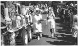 Denys Cope left, and Suzanne Spelman of Visiting Nurse Services at Hysterical Historical Parade,...