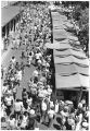 Crowds along Lincoln Avenue during Indian Market, Santa Fe, New Mexico