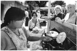 Cooking fry bread in Palace of the Governors courtyard during Indian Market, Santa Fe, New Mexico