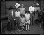 Unidentified rodeo group with children