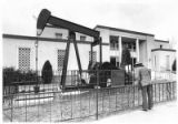 Oil well pump jack at State Land Office