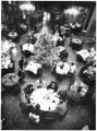 People dine at La Plazuela restaurant, La Fonda Hotel, during the Christmas season