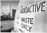 Warning sign marks waste from nuclear research, Los Alamos National Laboratory