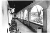 Porch at main building of mineral springs resort, Ojo Caliente