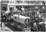The Bicenntenial Wagon Train visits the Palace of the Governors on its way from California to...