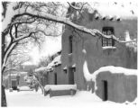 Snow on the New Mexico Museum of Art, Santa Fe