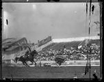 Chester Byres calf roping, Solider Field, Chicago, Illinois