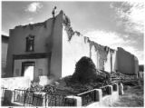 Demolition of Pena Blanca Church, Pena Blanca, New Mexico