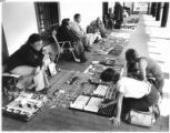 Native artists sell jewelry outside Palace of the Governors, Santa Fe