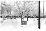 The Plaza after a snowstorm, Santa Fe