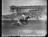Chester Byres trick roping, Soldier Field, Chicago, Illinois
