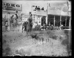 Eva Caskey bronc riding