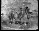 Hoot Gibson with Chris Taschen and unidentified cowboys