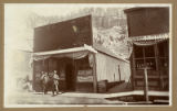 Miner's Home Saloon, operated by W.E. (Bill) Myers, Bland, New Mexico. Left to right are Randolph...