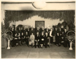 Inaugural celebration for Governor Arthur Seligman, alcove of the Fine Arts Museum, Santa Fe, New...