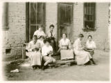 Group knitting, Women's Land Army of New Mexico