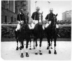 John Hertz Junior, Max Copening and Frank Bering, polo team that won championship at the rodeo