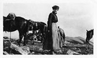 Miss Gladys Carroon on top of Penitente Peak, near Las Vegas, New Mexico
