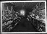 Interior of H.S. Kaune and Company grocery store, San Francisco Street, Santa Fe, New Mexico