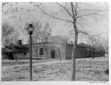 Barracks facing parade ground, Fort Marcy, Santa Fe, New Mexico