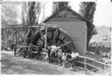 Rancho de las Golondrinas water wheel