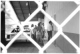 Inmates enter the new Rio Arriba Dentention Center after transfer from the old jail