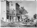 Crews rebuild Palace Avenue near the plaza, Santa Fe, New Mexico