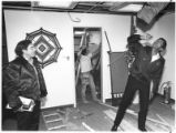 Gilbert Catanach and Carlos Silva inspect the St. Elizabeth Shelter for the homeless at 804 Alarid...