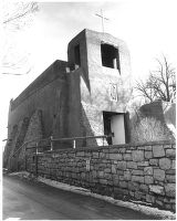San Miguel Chapel on Old Santa Fe Trail, Santa Fe, New Mexico