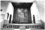 Interior of Santuario de Guadalupe, Santa Fe, New Mexico