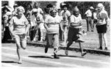 Sprinters compete in the Senior Olympics, Santa Fe, New Mexico