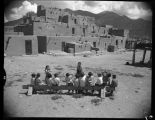 Children at Taos Pueblo, New Mexico