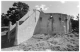 Seton Village hogan with collapsed roof at the American Woodcraft League campsite, Santa Fe, New...