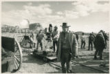 Scott Glenn on the set of the film Silverado, Santa Fe, New Mexico