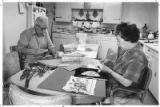 Spanish Market artists Emilio and Sonaida Romero turn their kitchen into a workshop, Santa Fe, New...