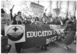 New Mexico Federation of Teachers march for a pay increase, Santa Fe, New Mexico