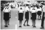 Women's Junior ROTC unit stands at attention, Santa Fe, New Mexico