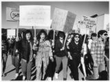 High school students protest unfair treatment, Pecos, New Mexico