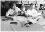 Karen Limback homeschools her children, Nathan and Kelly, Santa Fe, New Mexico