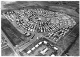 Aerial view of mobile home park, Santa Fe, New Mexico